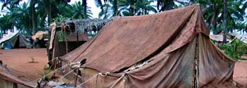 Refugee camp in Togo